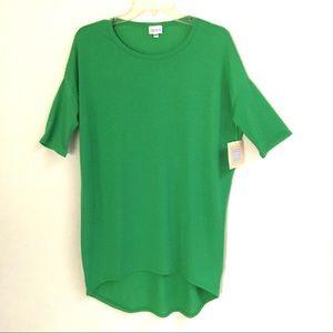 NWT LuLaRoe Irma kelly green tunic T-shirt XXS